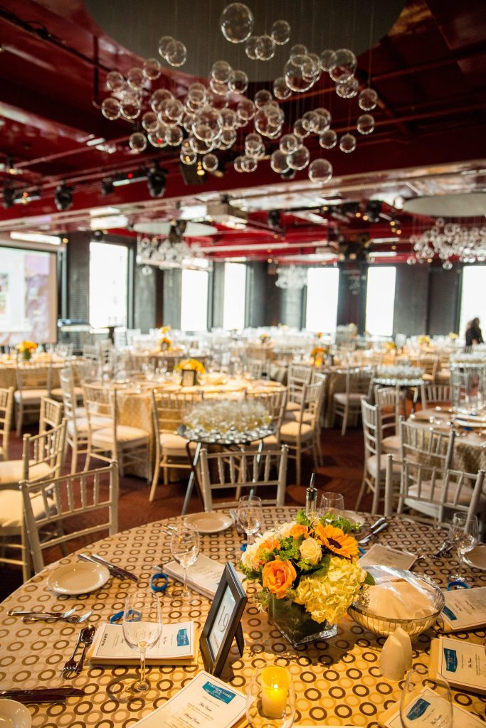 Event Tables With Flower Arrangements