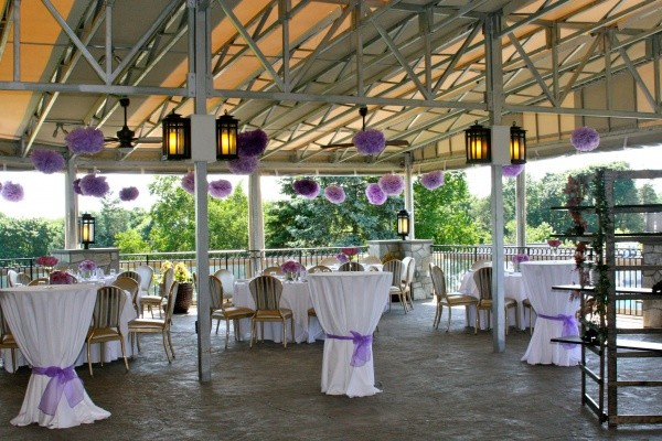 Outdoor Party with Tables Set Up