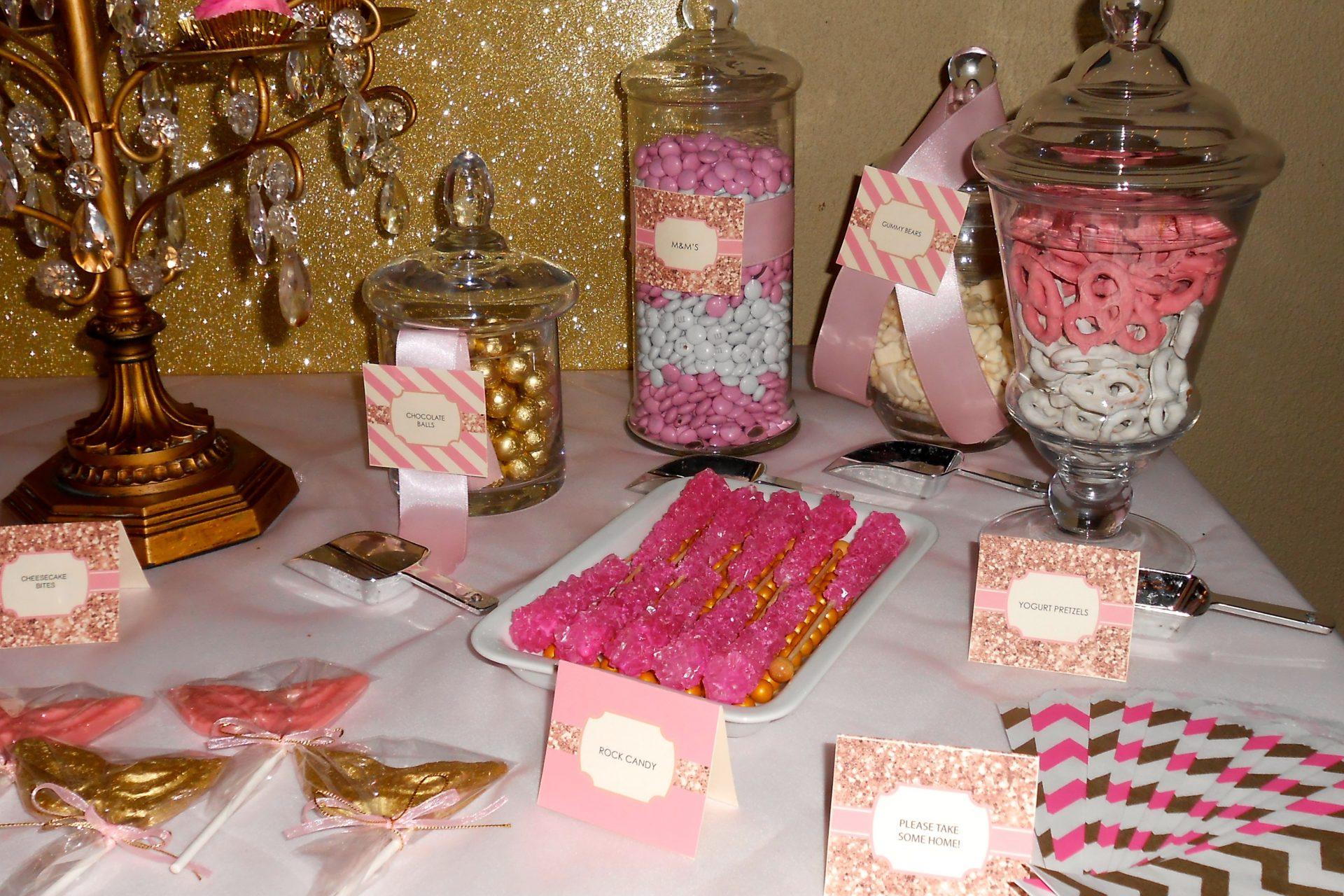Pink and White Dessert Bar