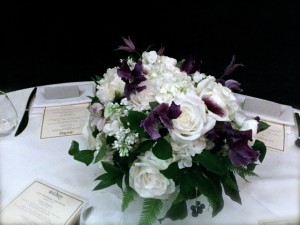 Purple and White Flower Arrangement
