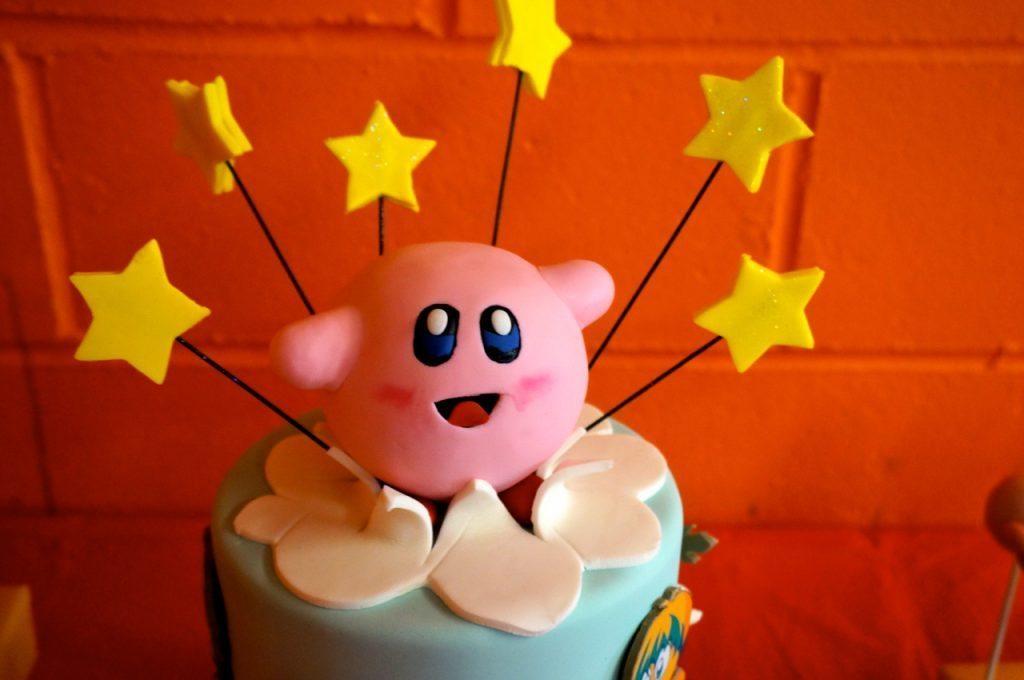 Kirby Birthday Cake