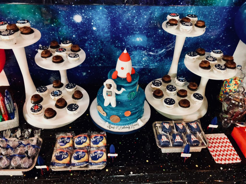 Outer Space Dessert Table