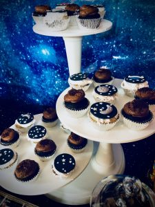 Space Fondant Cupcake Toppers